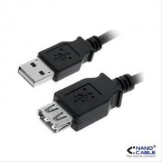 Cable Prolongacion Usb 2.0 A/m-a/h 1.8m Negro